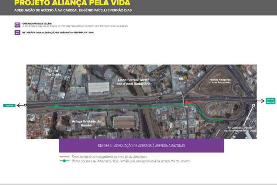 Atenção, motoristas: Anel Rodoviário de BH muda saída para São Paulo a partir de hoje