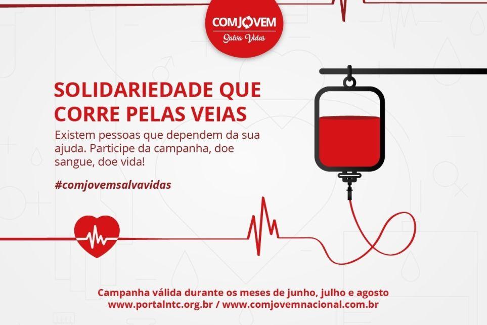 Faça parte da campanha de doação de sangue da COMJOVEM